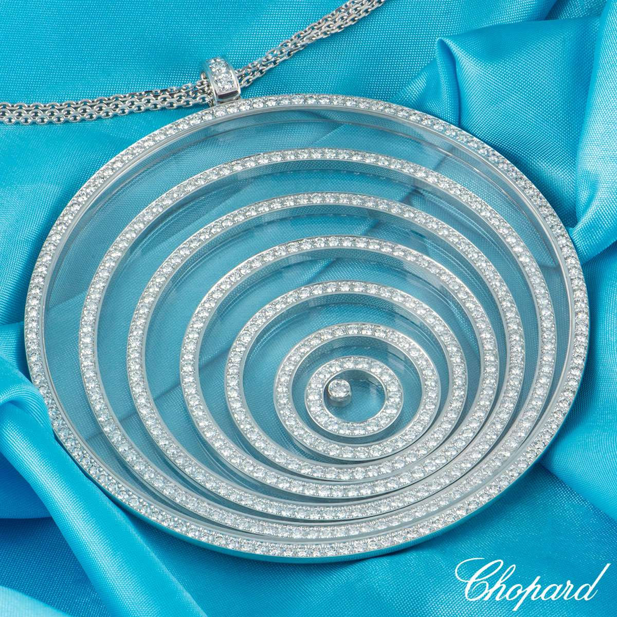 Chopard White Gold Happy Spirit Diamond Pendant 795778/1001